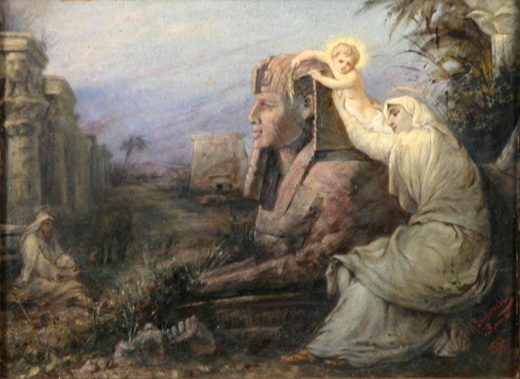 A. Badowski, Ucieczka do Egiptu (1882)